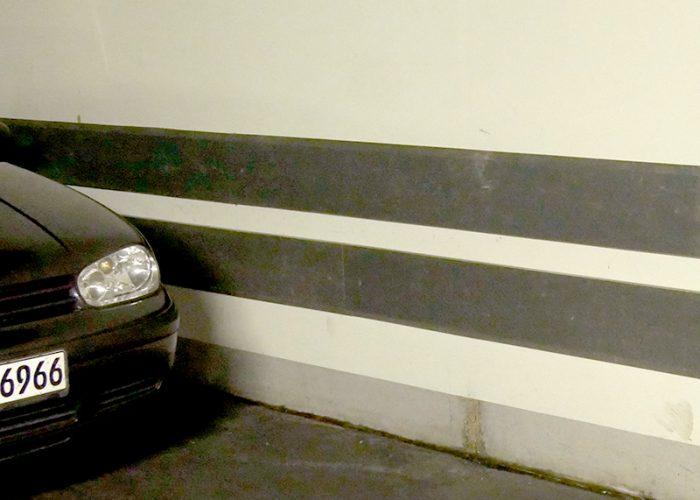 Parkhaus Anfahrschutz in einer Tiefgarage